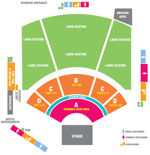 Amphitheater Seating Chart Walmart Arkansas Music