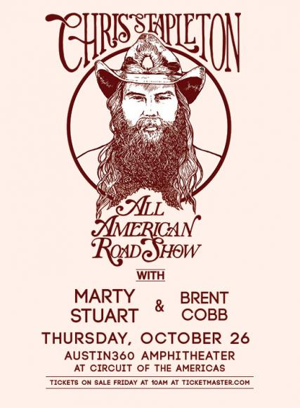 Chris Stapleton, Marty Stuart & Brent Cobb at Walmart Arkansas Music Pavilion
