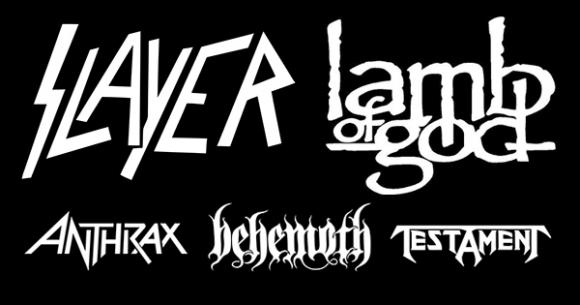 Slayer, Lamb of God & Anthrax at Walmart Arkansas Music Pavilion