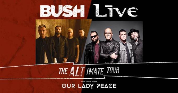 Live, Bush & Our Lady Peace at Walmart Arkansas Music Pavilion