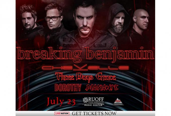 Breaking Benjamin, Chevelle & Three Days Grace at Walmart Arkansas Music Pavilion