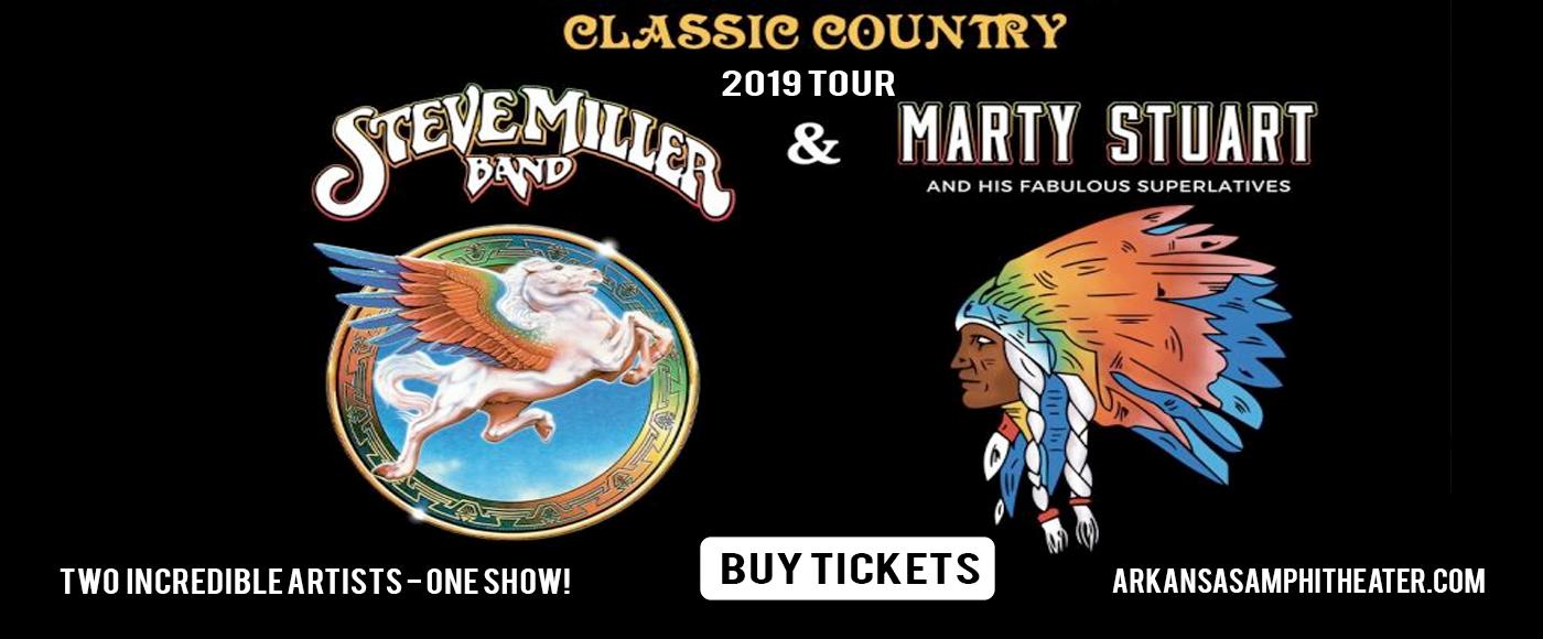 Steve Miller Band & Marty Stuart at Walmart Arkansas Music Pavilion
