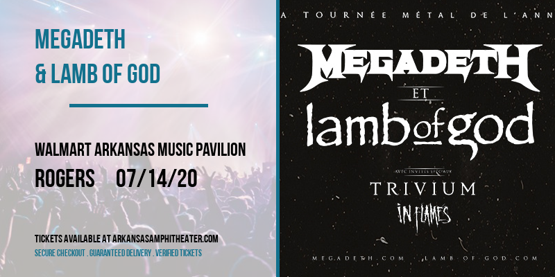 Megadeth & Lamb of God at Walmart Arkansas Music Pavilion