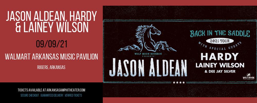 Jason Aldean, Hardy & Lainey Wilson at Walmart Arkansas Music Pavilion