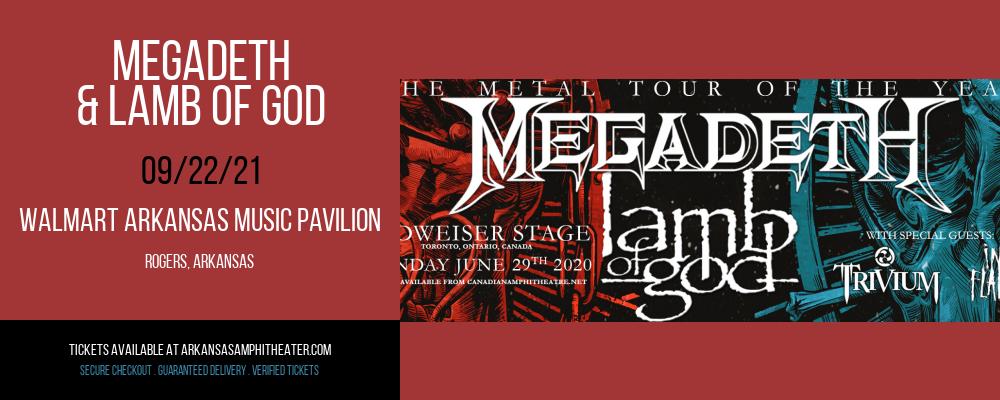 Megadeth & Lamb of God at Walmart Arkansas Music Pavilion