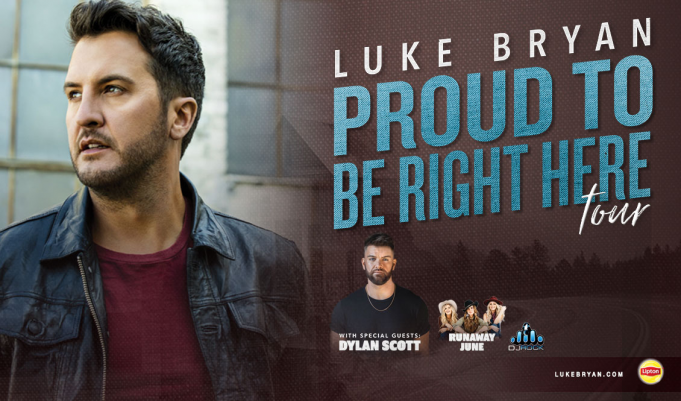Luke Bryan, Dylan Scott & Runaway June at Walmart Arkansas Music Pavilion