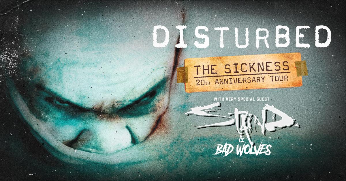 Disturbed, Staind & Bad Wolves [CANCELLED] at Walmart Arkansas Music Pavilion