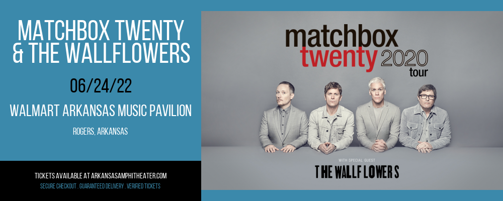Matchbox Twenty & The Wallflowers at Walmart Arkansas Music Pavilion
